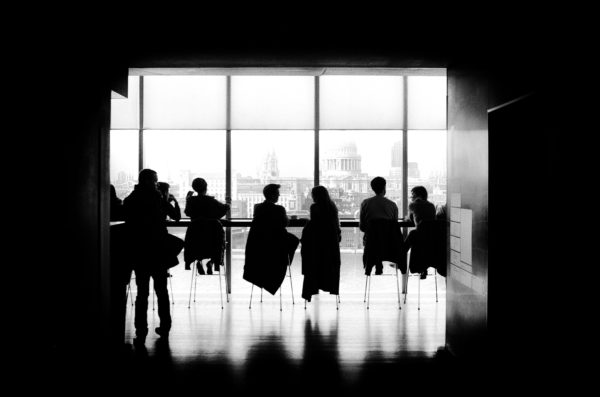 people sitting in a room