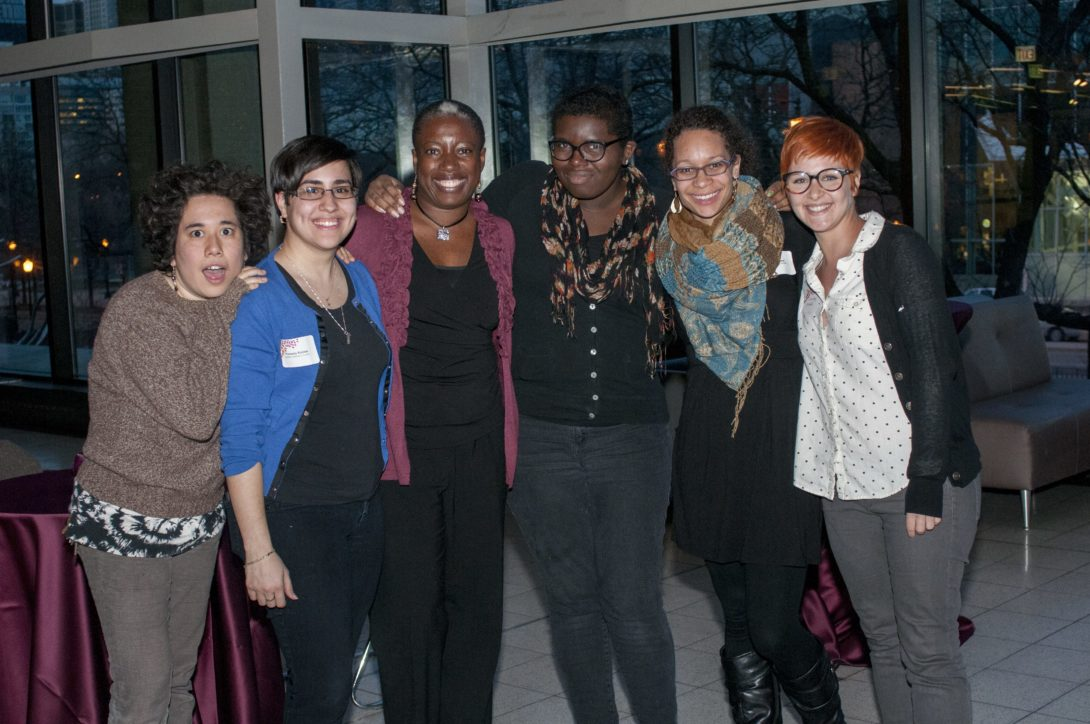 Ariel Mejia, RJ Robles, Natalie Bennett, Jinna Holt, Emily WIlliams, and Christy Sickle standing together at an event.